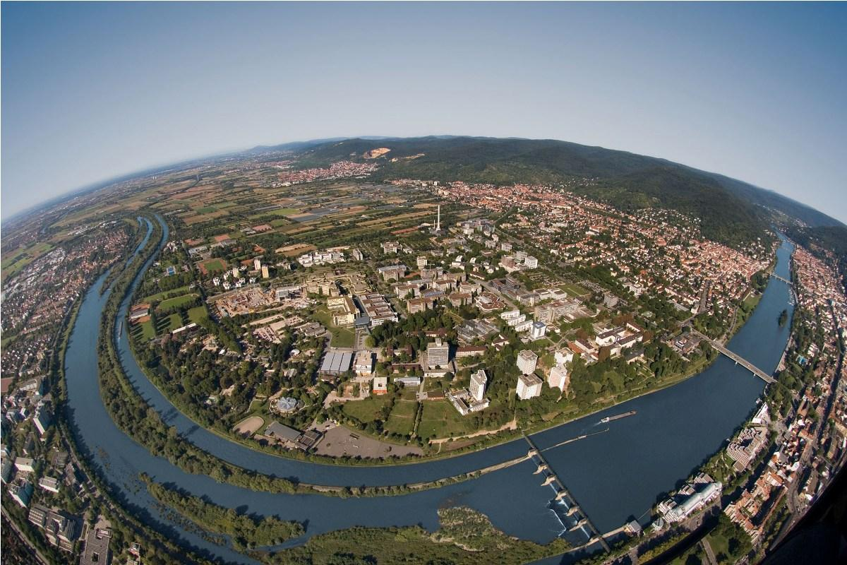 Aerial View of the Campus - Heidelberg University Hospital - Университетская клиника Гейдельберга